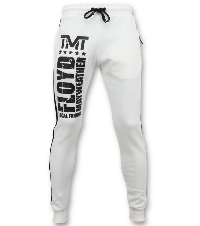 Local Fanatic Exklusive Jogginghose Herren - Floyd Mayweather Jogginghose - Weiß