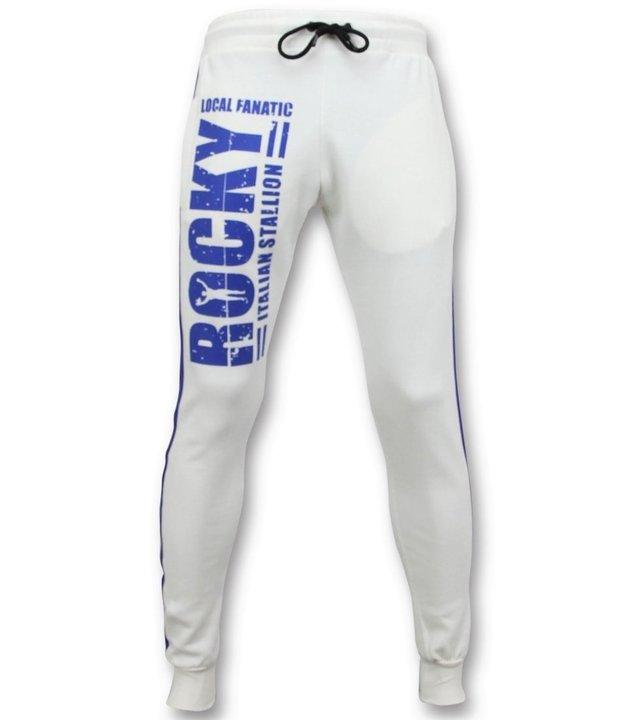 Local Fanatic Exklusive Trainingshose für Herren - Italian Stallion Rocky Balboa - Weiß