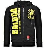 Local Fanatic Exklusive Herren Joggingweste - Rocky Balboa Boxing - Schwarz