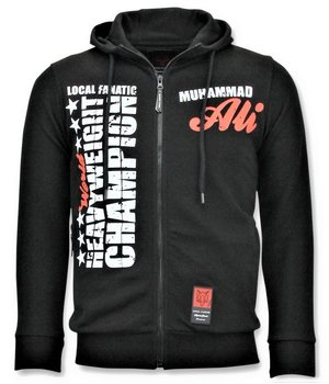 Local Fanatic Exklusive Sportweste Männer - Muhammad Ali Champion - Schwarz