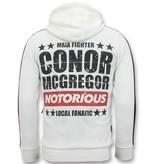 Local Fanatic Exklusive Sportweste Männer - Conor Mcgregor Trainingsweste - Weiß