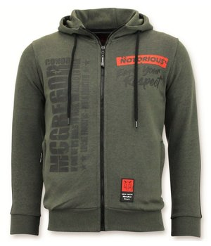Local Fanatic Exklusive Trainingsweste Männer - Conor Mcgregor Hoodie - Grün