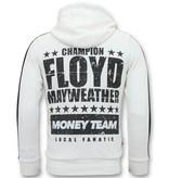 Local Fanatic Exklusive Jogginganzug Herren - TMT Floyd Mayweather - Weiß