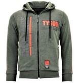 Local Fanatic Exklusiver Trainingsanzug für Herren - Iron Mike Tyson - Grün