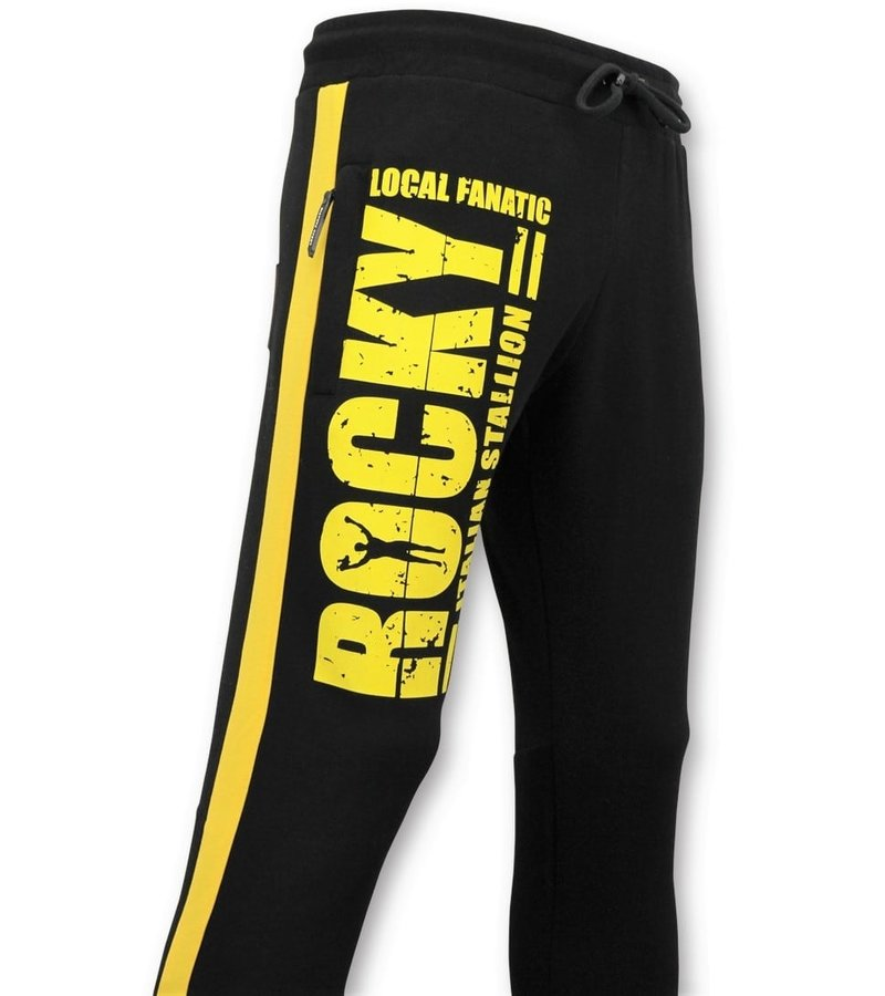Local Fanatic Exklusiver Herren Trainingsanzug - Rocky Balboa Sportanzug - Schwarz