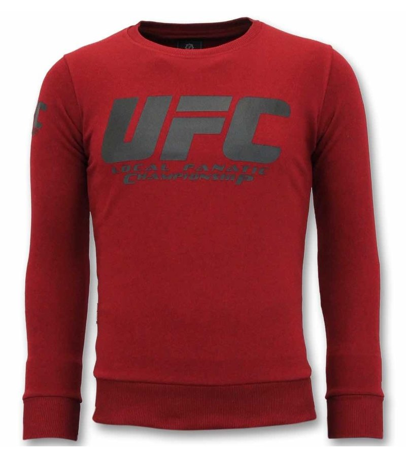 Local Fanatic Exklusive Sweater Herren - UFC Championship Sweater - Bordeaux