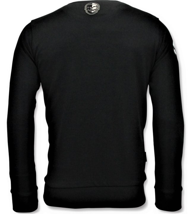 Local Fanatic Coole Pullover Männer - Mario - Schwarz