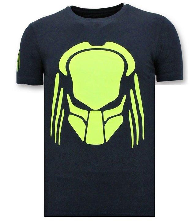 Local Fanatic T-Shirt Männer mit Aufdruck - Predator Neon - Blau