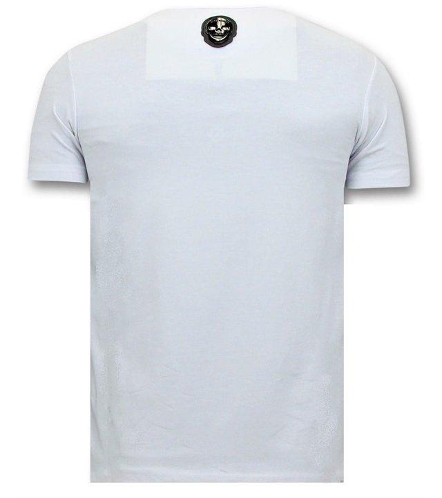 Local Fanatic Cooles T-Shirt Herren - Transformers Robots - Weiß