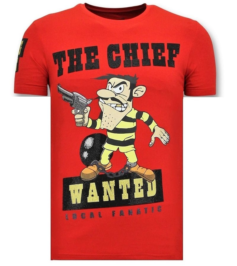 Local Fanatic Exklusive T-Shirt Männer - The Chief - Rot