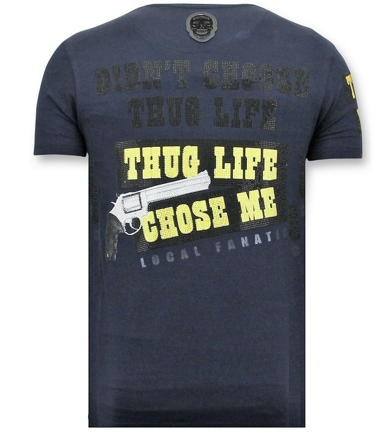 Local Fanatic T-Shirt Herren Print - The Chief - Blau
