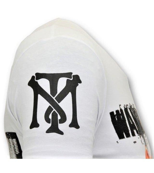 Local Fanatic Coole T-Shirt Männer - Daffy Montana - Weiß