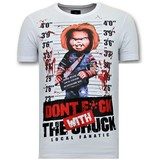 Local Fanatic Herren T-Shirt mit Aufdruck - Bloody Chucky - Weiß