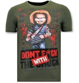 Local Fanatic Coole T-Shirt Männer - Bloody Chucky - Grün