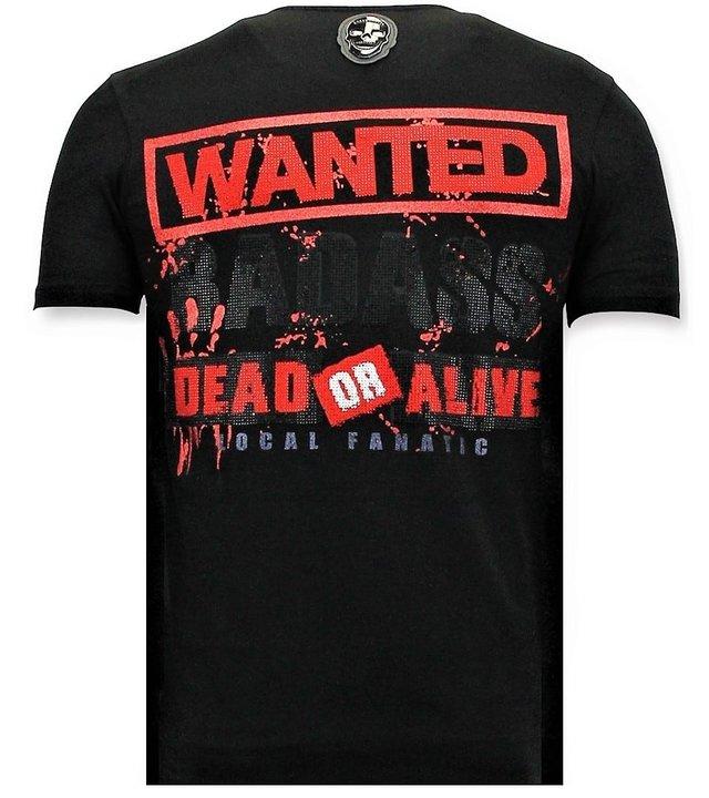 Local Fanatic Coole T-Shirt Männer - Bloody Chucky - Schwarz