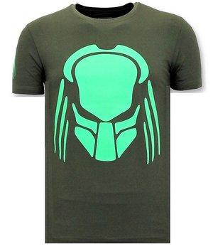 Local Fanatic T-Shirt Männer mit Aufdruck - Predator Neon - Grün