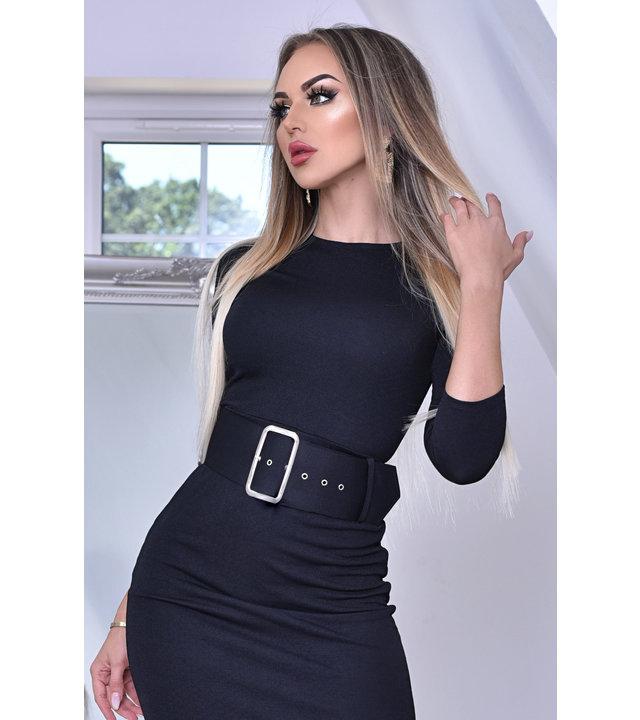 CATWALK Eliana Midaxi Schwarze Kleid - Frauen - Schwarz