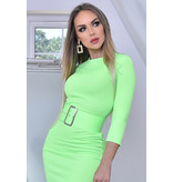 CATWALK Eliana Midaxi Schwarze Kleid - Frauen - Grün