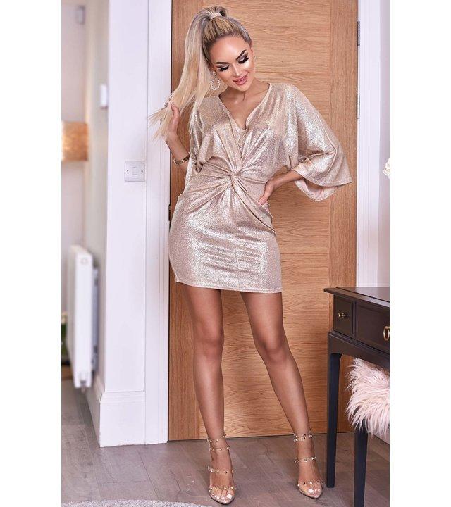 CATWALK Anika metallic Verdrehte Knoten Kleid - Frauen - Grau