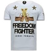 Local Fanatic Exklusive Herren T-Shirt - The Rebel - White