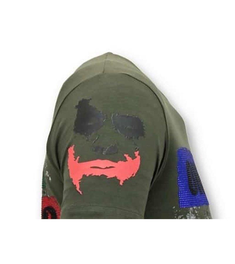 Local Fanatic Männer-T-Shirt, exklusiv - Die Joker-Mann - Grün