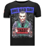 Local Fanatic Luxus Männer-T-Shirt - The Joker Man - Schwarz