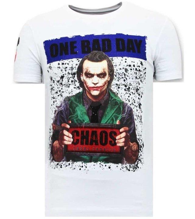 Local Fanatic Tough Männer T-Shirt - The Joker Man - Weiß