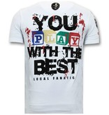 Local Fanatic Exklusive Männer-T-Shirt - Chucky Childs Play - Weiß