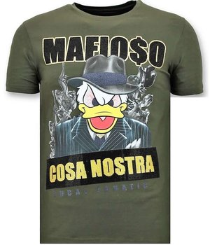 Local Fanatic Luxus-Mann-T-Shirt - Cosa Nostra Mafioso - Grün