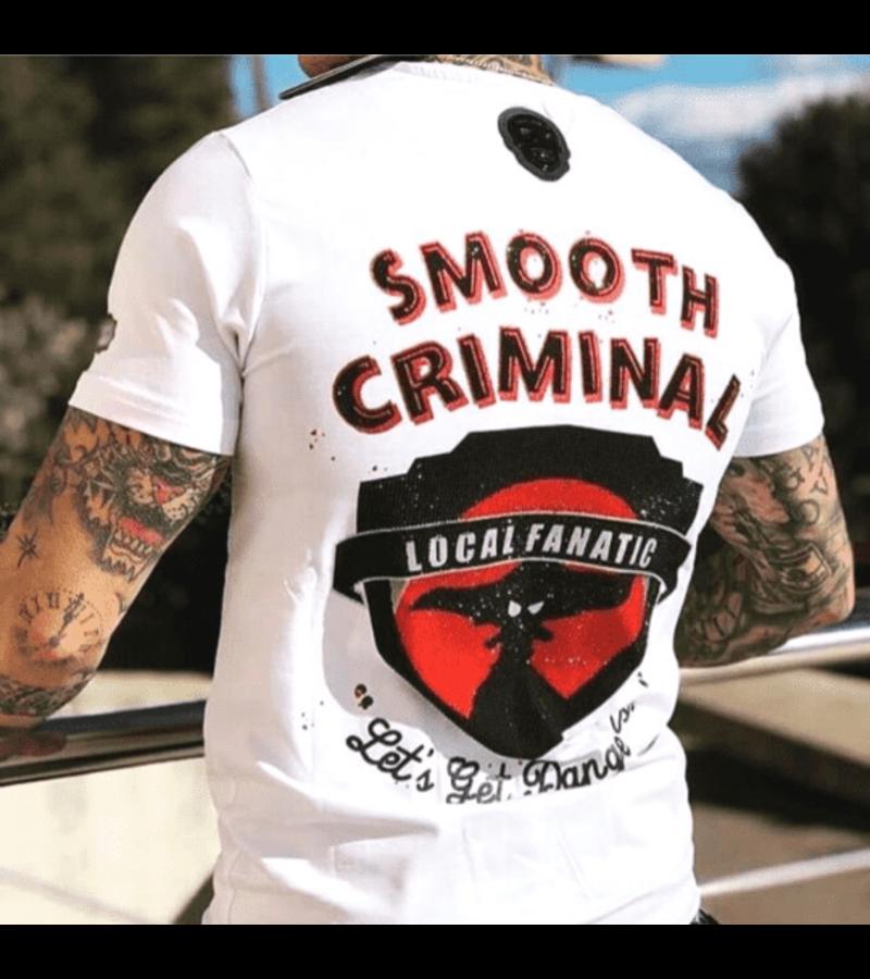 Local Fanatic Luxus Männer-T-Shirt - Verbrechen Reich - Weiß