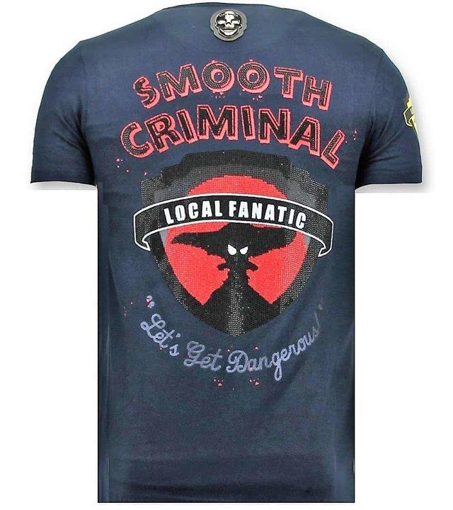 Local Fanatic Exklusive Männer-T-Shirt - Crime Reich - blau