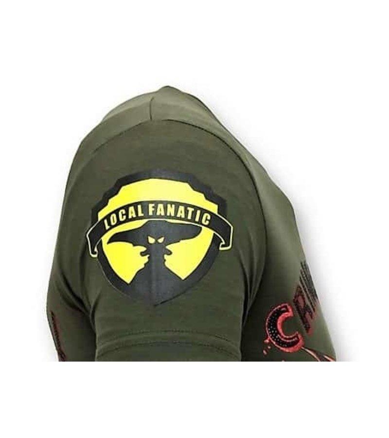Local Fanatic Tough Männer-T-Shirt - Verbrechen Reich - Grün