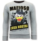 Local Fanatic Exklusive Herren - Cosa Nostra Mafioso - Grau