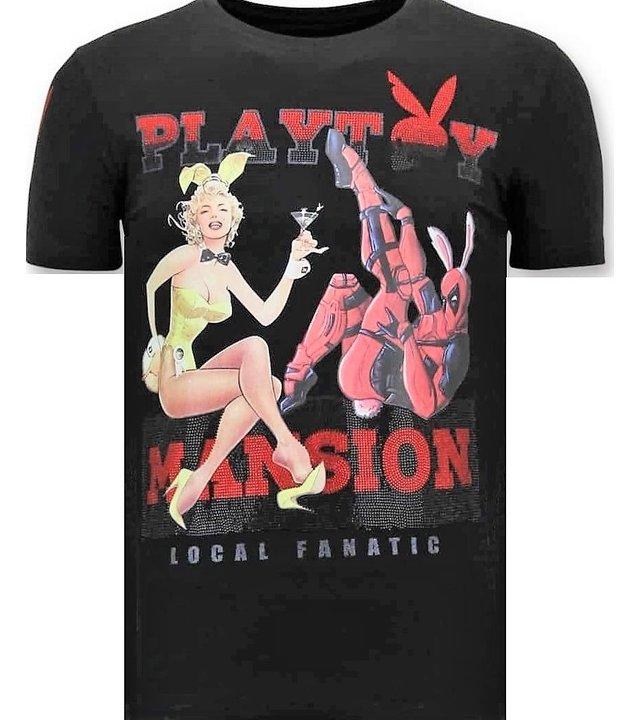 Local Fanatic Luxuxmänner T-Shirt - Das Playtoy Mansion - Schwarz