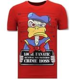 Local Fanatic Luxuxmänner T-Shirt - Alcatraz Prisoner - Red