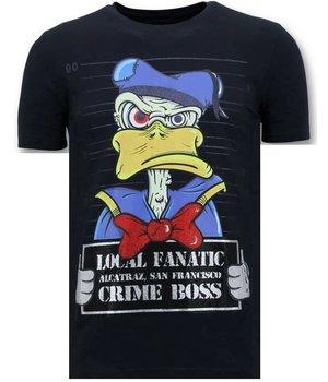 Local Fanatic Exklusive Männer-T-Shirt - Alcatraz Gefangener - Blau