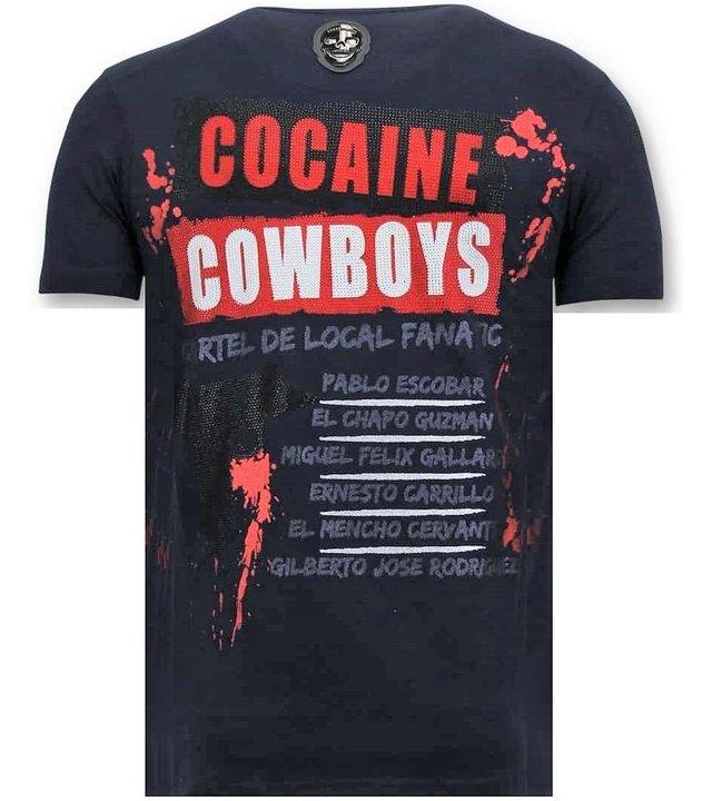 Local Fanatic Exklusive Männer-T-Shirt - Los Jefes Die Narcos - Blau