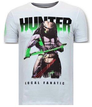 Local Fanatic Luxuxmänner T-Shirt - Hunter Predator - Weiss