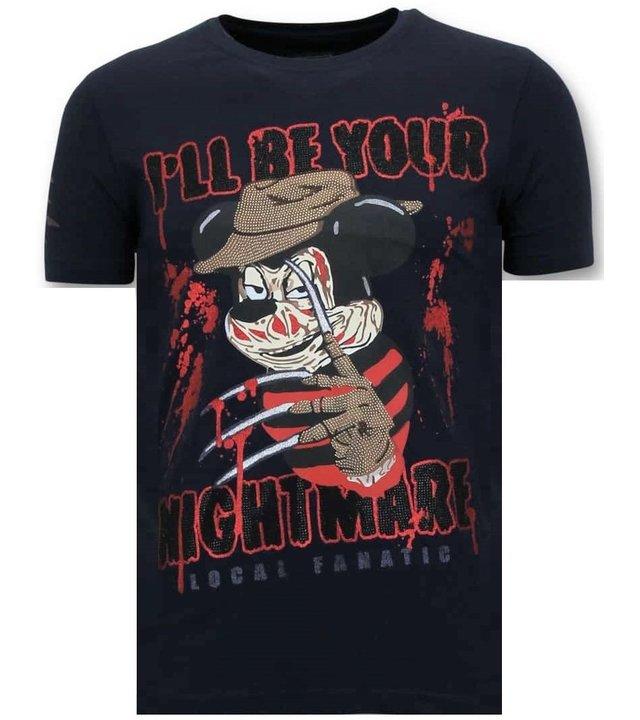 Local Fanatic Tough Männer T-Shirt - Freddy Krueger - Blau