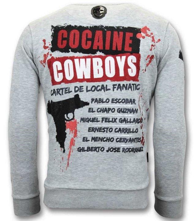 Local Fanatic Exklusive Herren Sweater - Los Jefes Die Narcos - Grau
