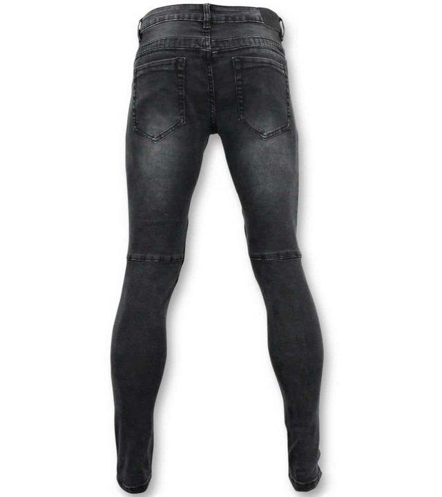 True Rise Grund Biker Jeans Men - U141-5 Grau
