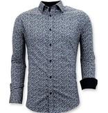 Tony Backer Maßgeschneiderte Hemden Männer - Slim Fit Herren - 3045 - Blau