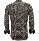 Tony Backer Exklusive Stilvolle Herren Shirt Online - Digital Printing - 3054 - Schwarz