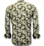 Tony Backer Exklusive Herrenhemden - Luxus Design Drucken - 3053 - Gelb
