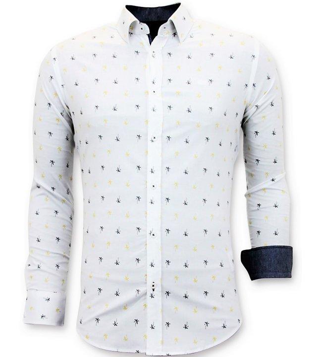 Tony Backer Italienische Hemden der Männer - Slim Fit Herrren - 3047 - Weiß