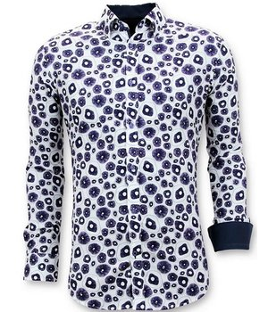 Tony Backer Exklusive Twin beiläufige Männer Shirts - Digital Printing - 3058 - Weiß