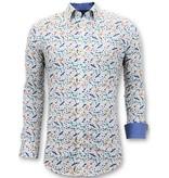 Tony Backer Exklusive Herrenhemden - Digital Print Exklusiv - 3063 - Weiß