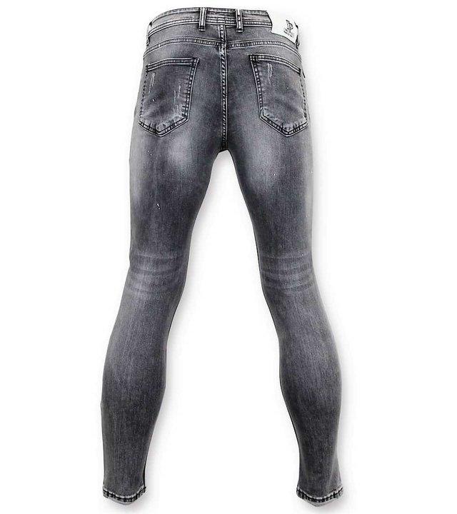 True Rise Abgenutzte Jeans Men - SkinnyJeans Männer - A13C - Grau