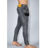 True Rise Stilvolle Jeans für Männer - Skinny Fit Hose  - A13B - Grau