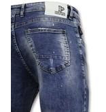 True Rise Hosen mit Flecken - Skinny Jeans Men - A35D - Blau